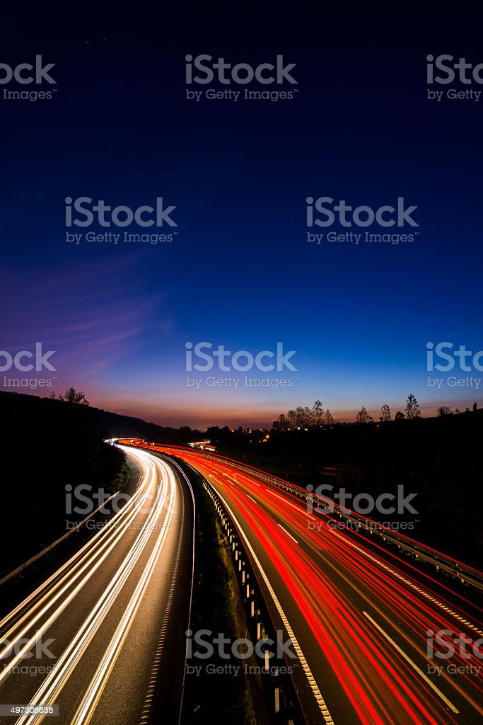Highway lights stock photo