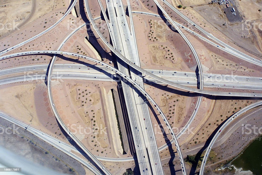 Highway Loops royalty-free stock photo