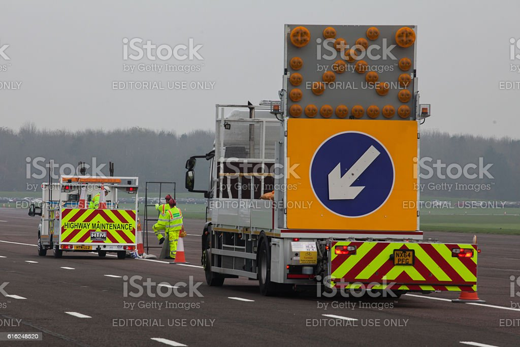 Highway Maintainance Truck stock photo