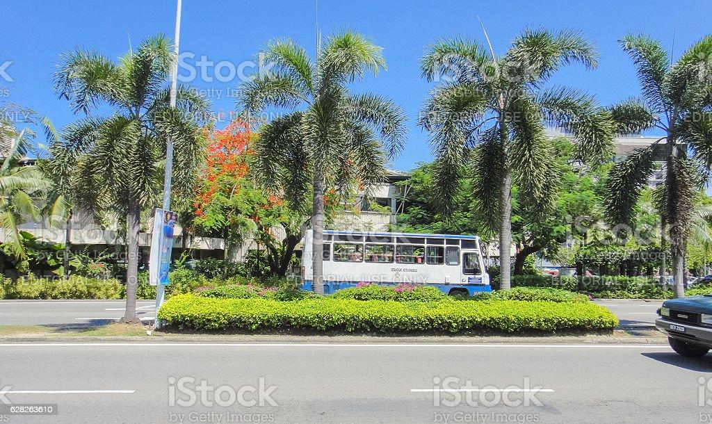 Highway near Kota Kinabalu bus station stock photo