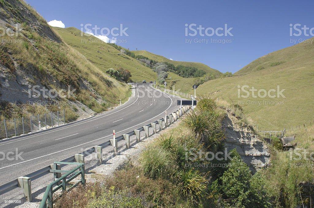 Highway, New Zealand stock photo