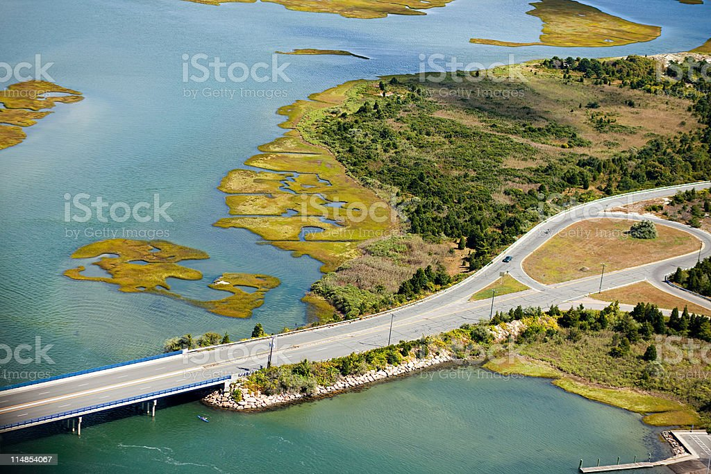 Highway, Newport County, Rhode Island, USA stock photo