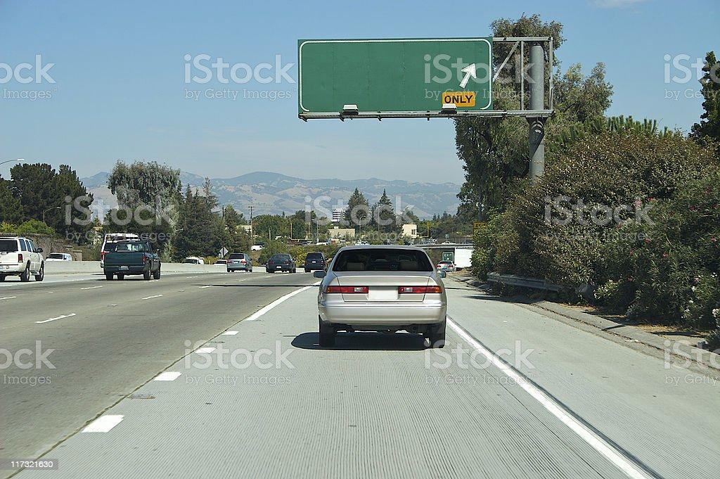 Highway Next Exit stock photo