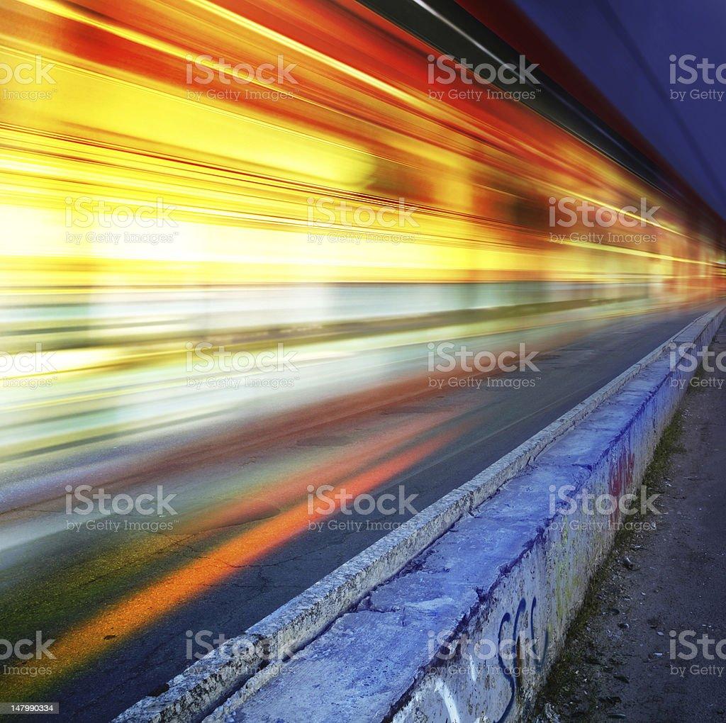 highway of night city stock photo