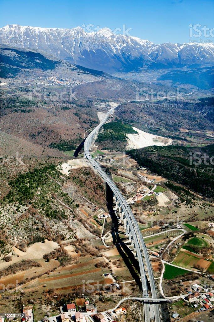 Autostrada dei Parchi, Abruzzo stock photo