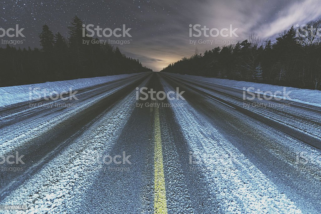 Highway of Winter royalty-free stock photo