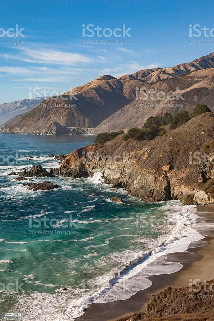 Highway One Looking North stock photo