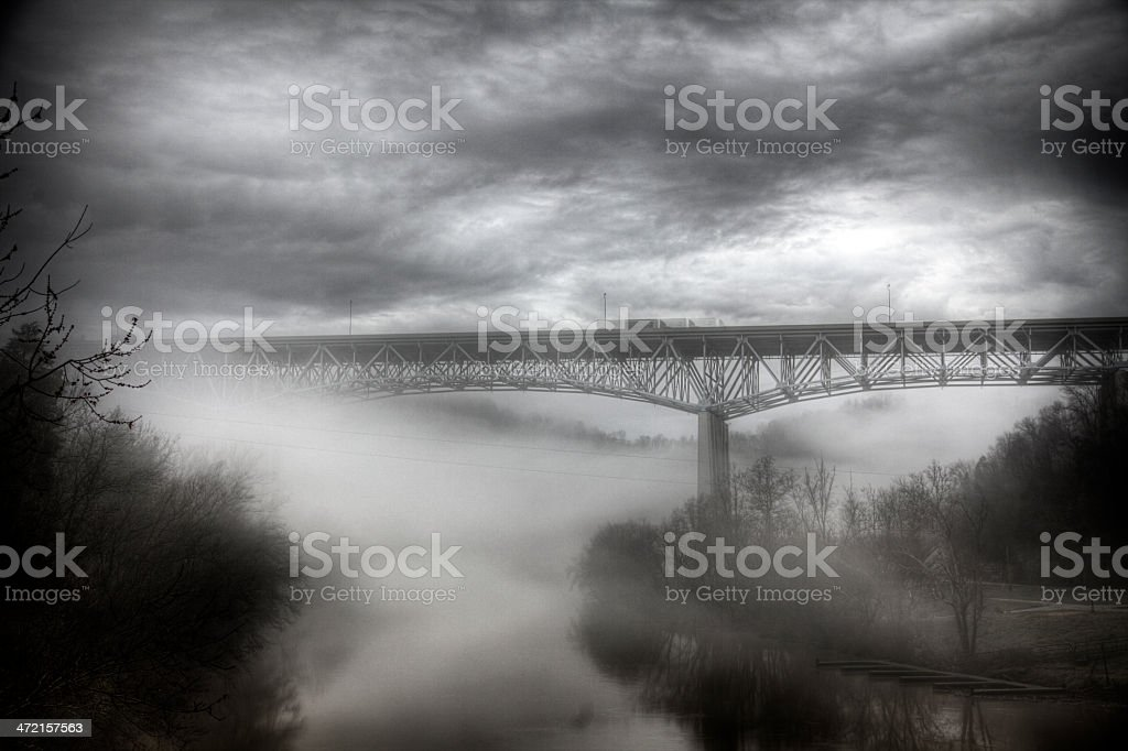 Highway over River royalty-free stock photo