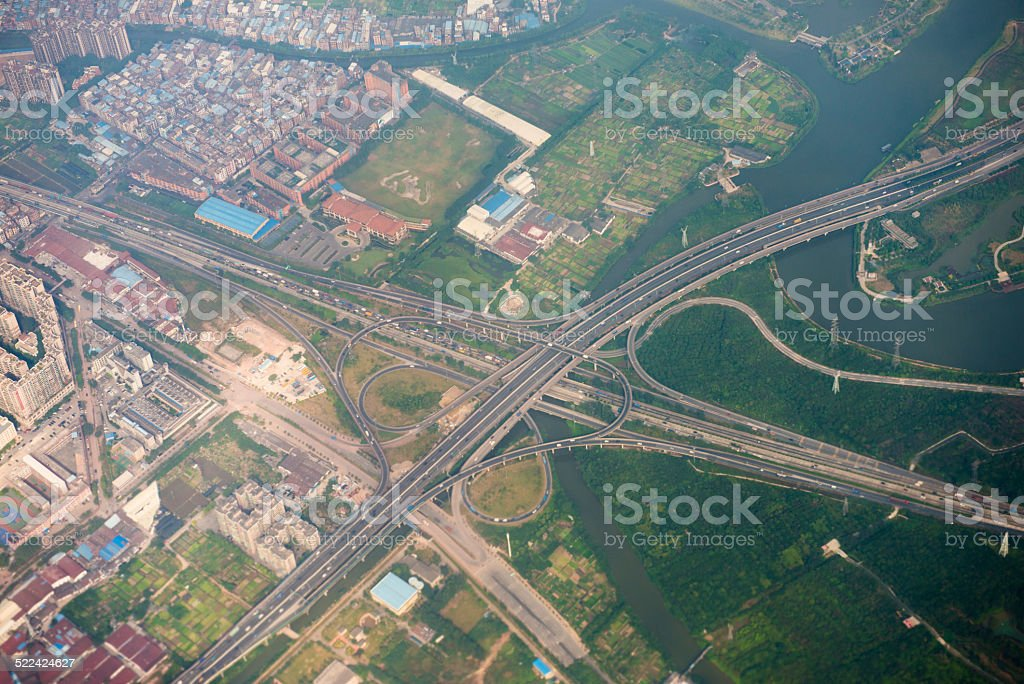 highway overpass intersection stock photo