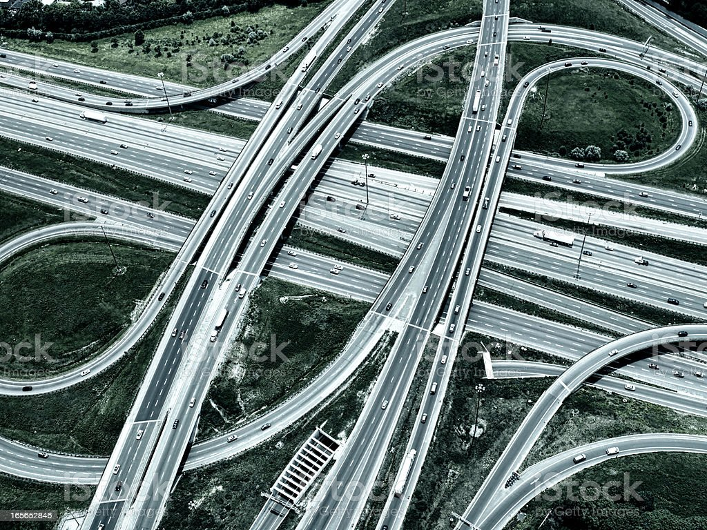 Highway Overpass, Toned Image royalty-free stock photo