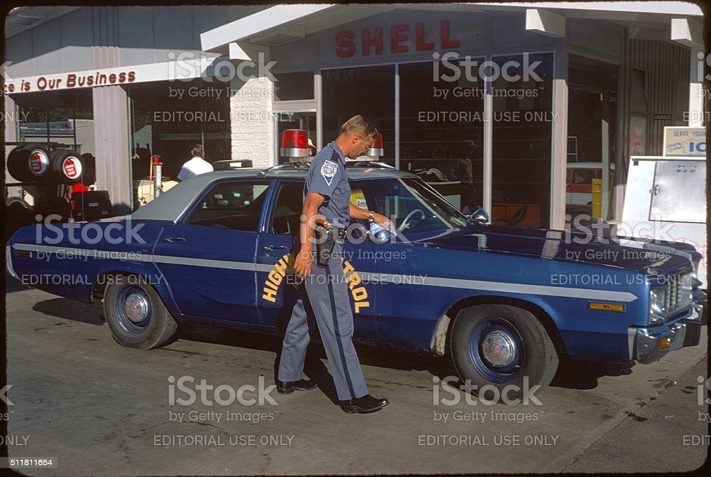 Highway Patrol, Nevada, 1977 stock photo