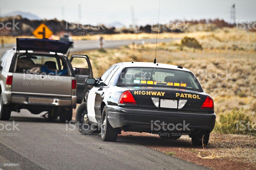 highway patrol stock photo