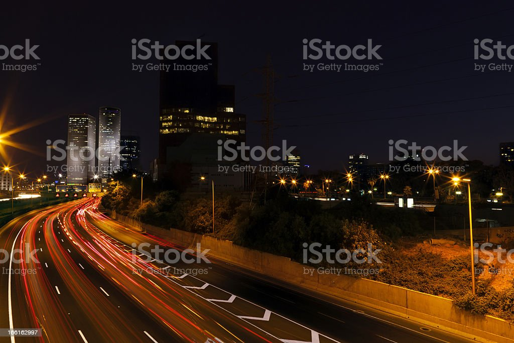 Highway River to Downtown royalty-free stock photo
