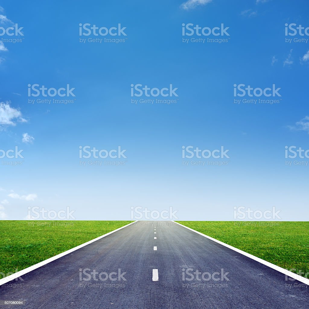 Highway road  with blue sky stock photo