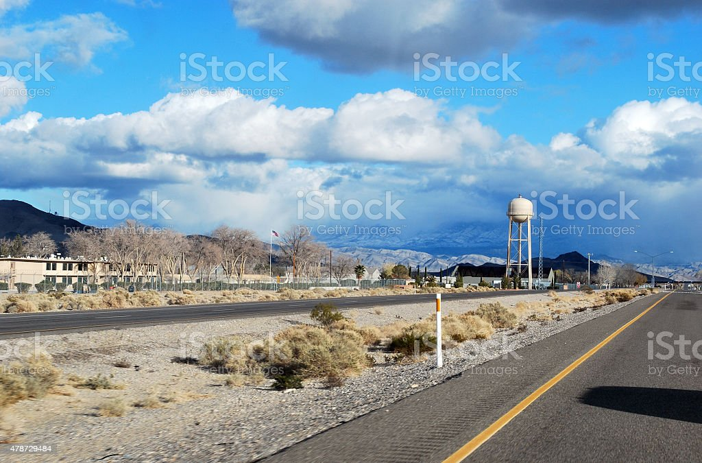 Highway Roadside View royalty-free stock photo