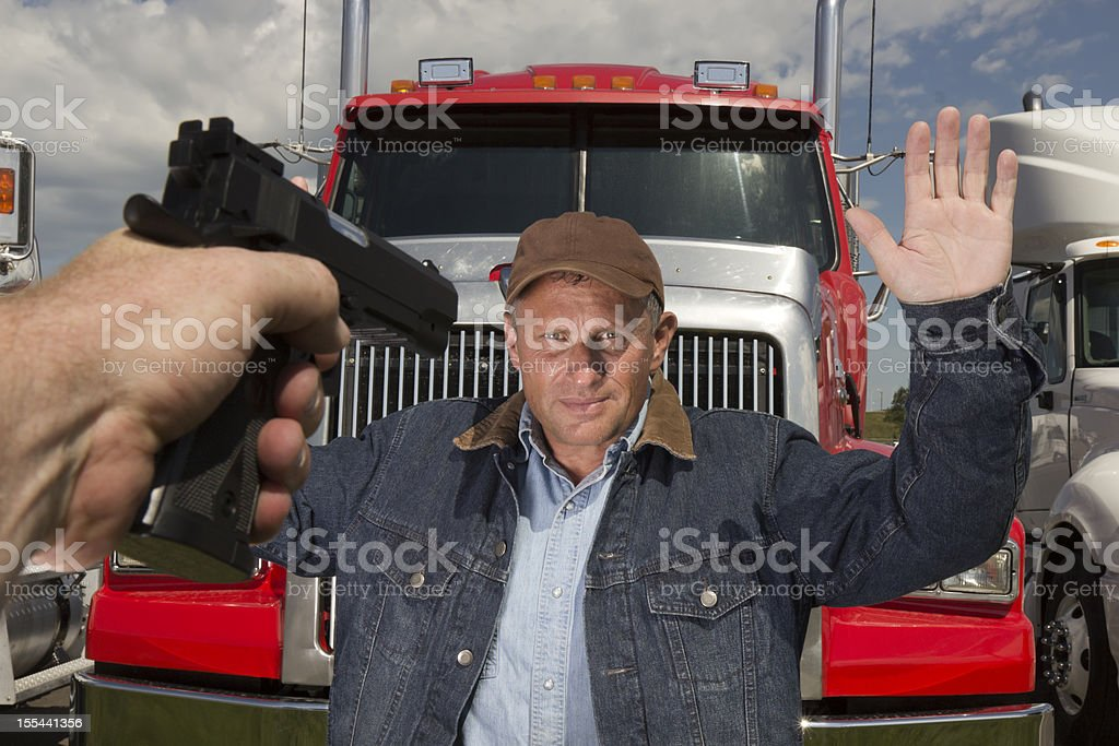 Highway Robbery royalty-free stock photo