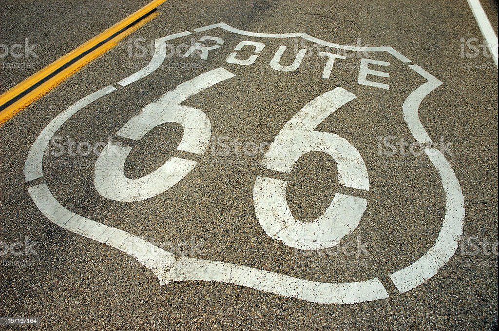 Highway Route 66 royalty-free stock photo