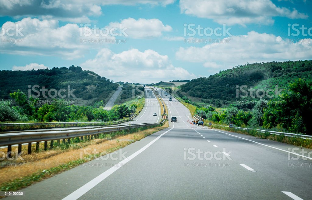 Highway. Route E-95 stock photo