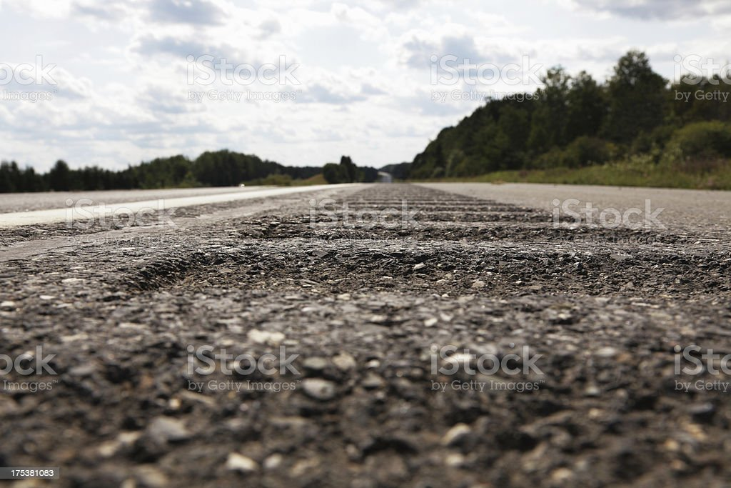 Highway Safety Rumble Strips stock photo