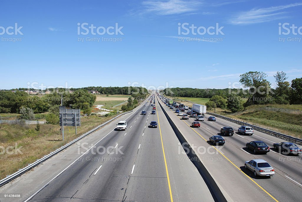 Highway scene of driving cars. Traffic. royalty-free stock photo