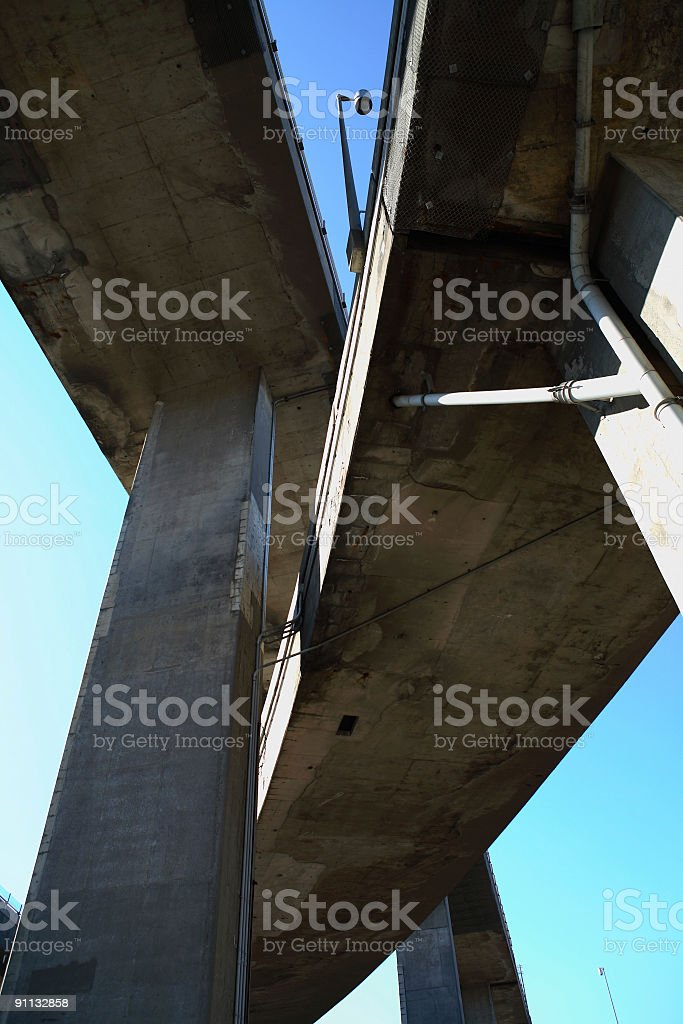 Highway shot from below royalty-free stock photo