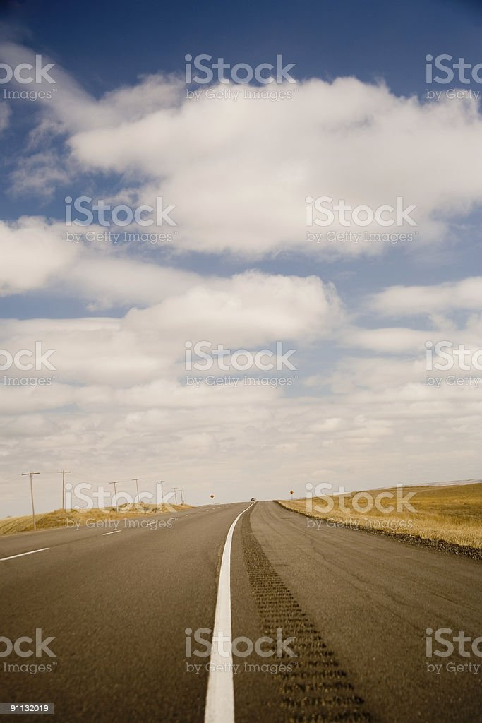 highway shoulder royalty-free stock photo