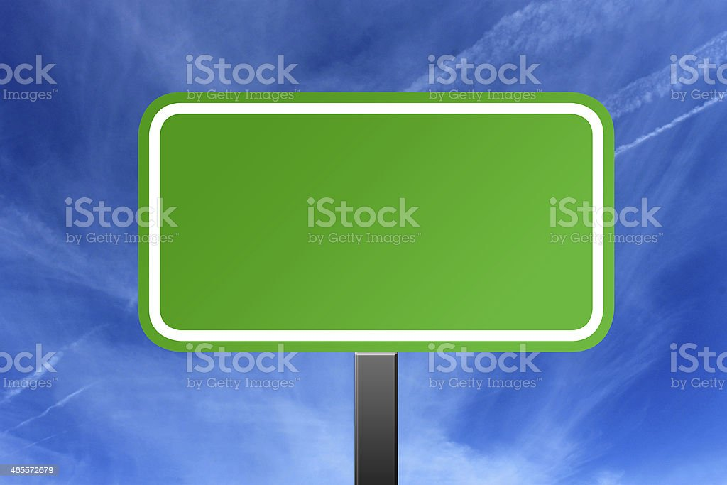 Highway sign and cloudscape royalty-free stock photo