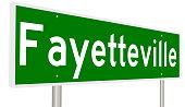Highway sign for Fayetteville