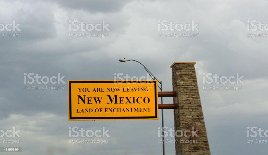 Autostrada di lasciare New Mexico foto stock royalty-free