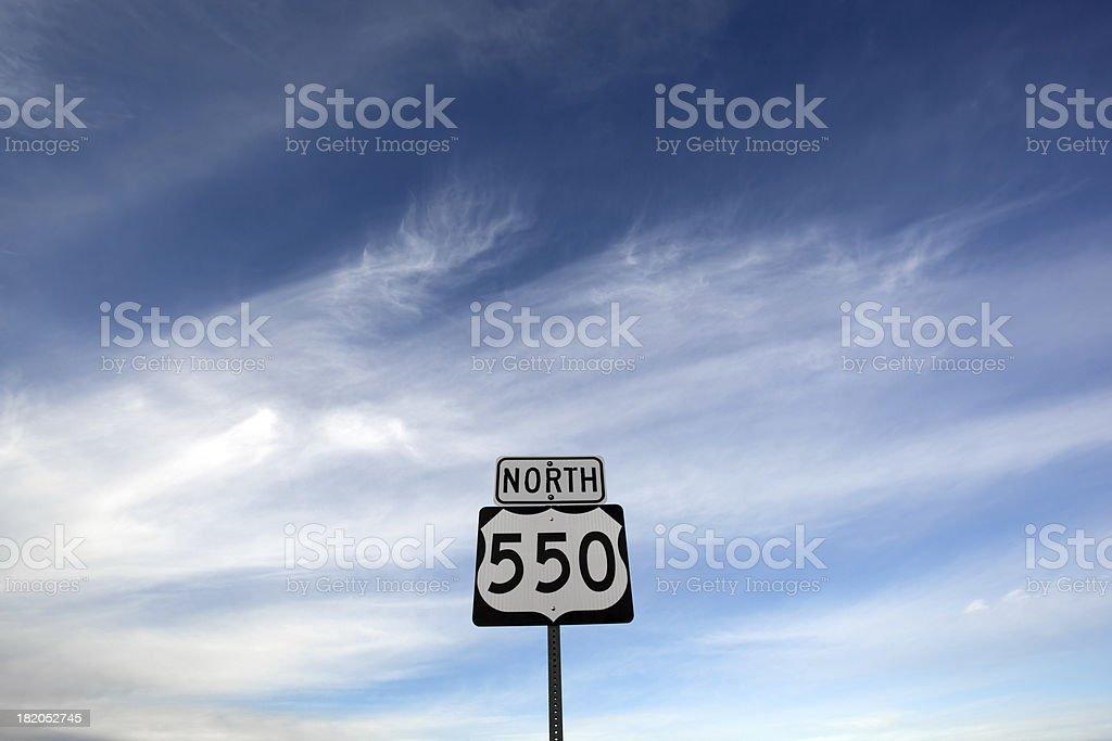 highway sign sky stock photo