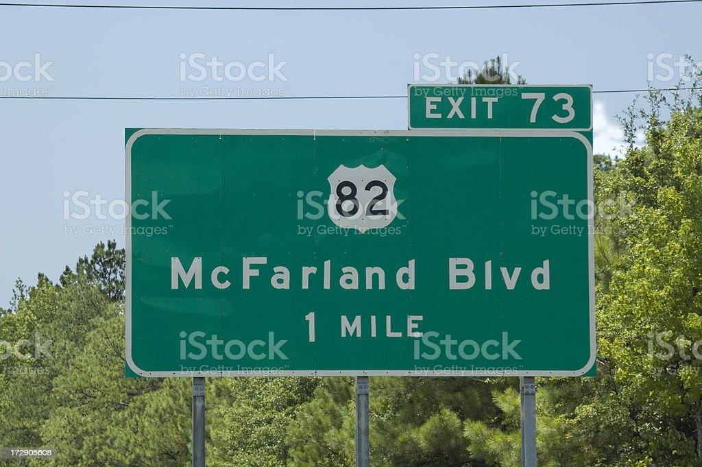 Highway Signs royalty-free stock photo