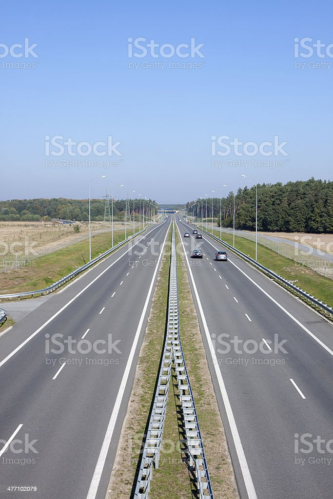 Highway simple - in poland s 3 royalty-free stock photo