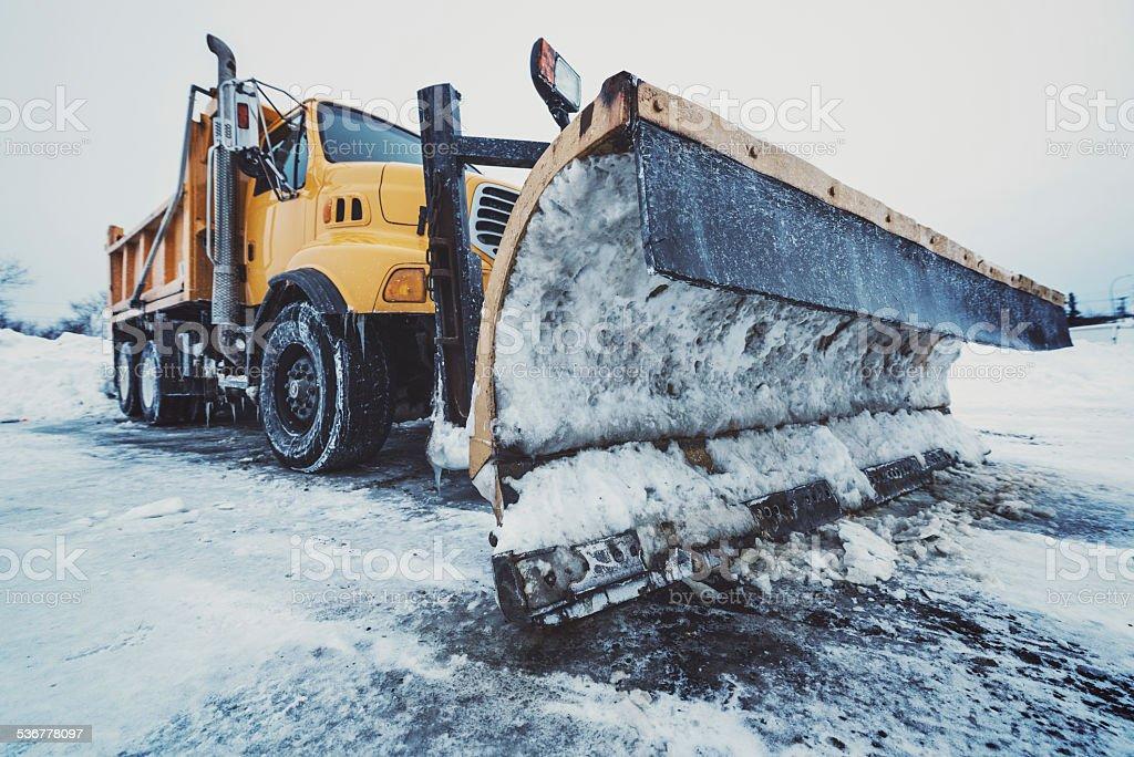 Highway Snow Plow stock photo