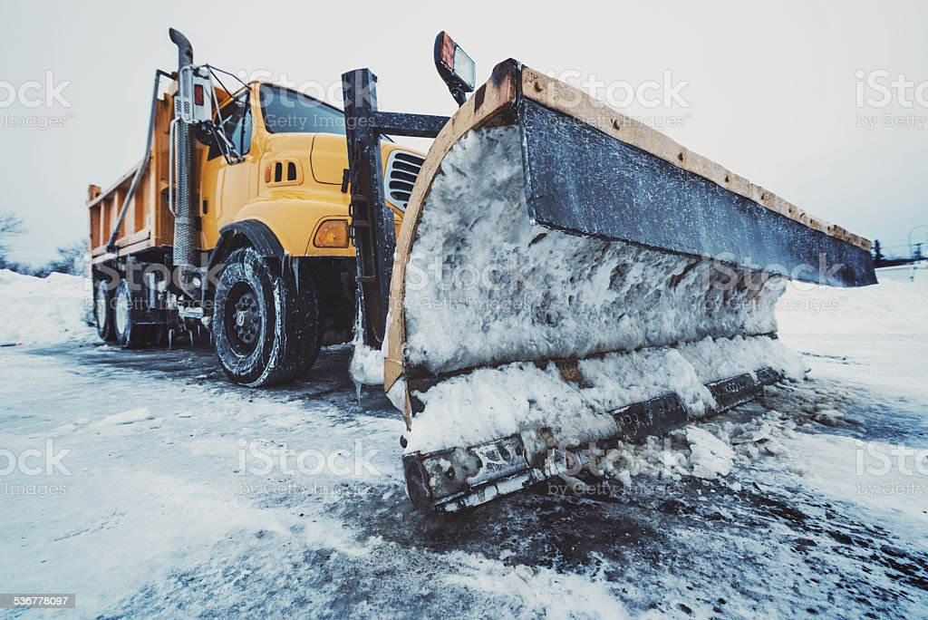 Highway Snow Plow stock photo