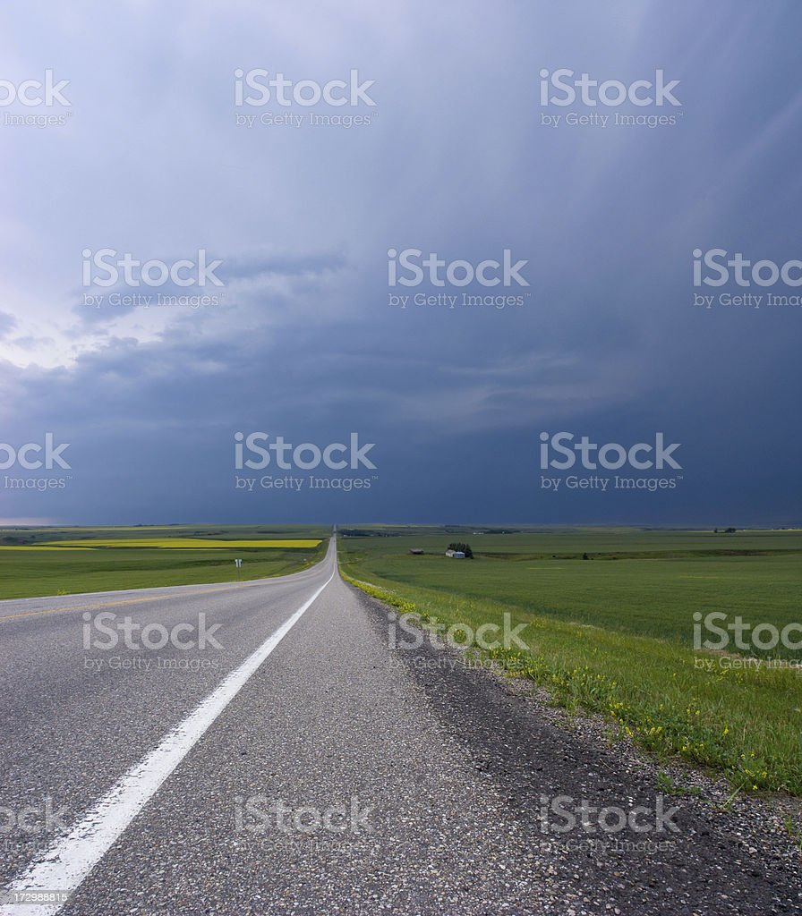 Highway Storm royalty-free stock photo