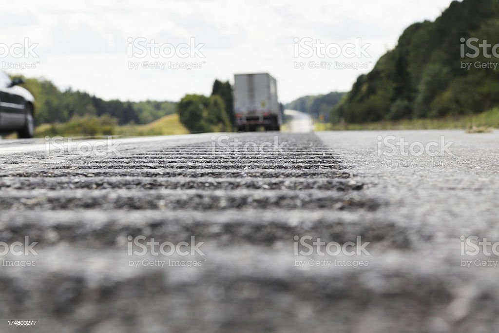 Highway Surface Level View stock photo