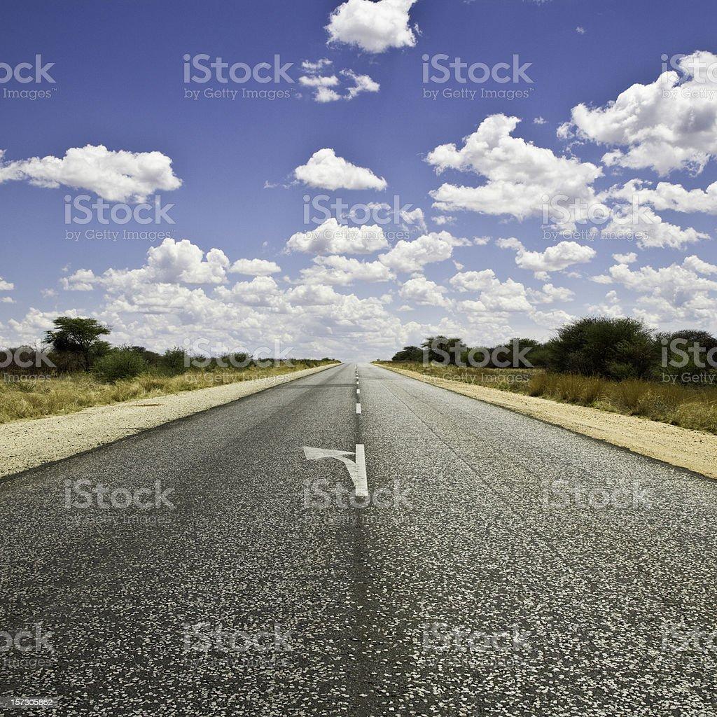 Highway through Namibia royalty-free stock photo