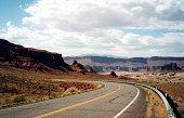 Highway through San Juan county's dramatic landscape, Utah