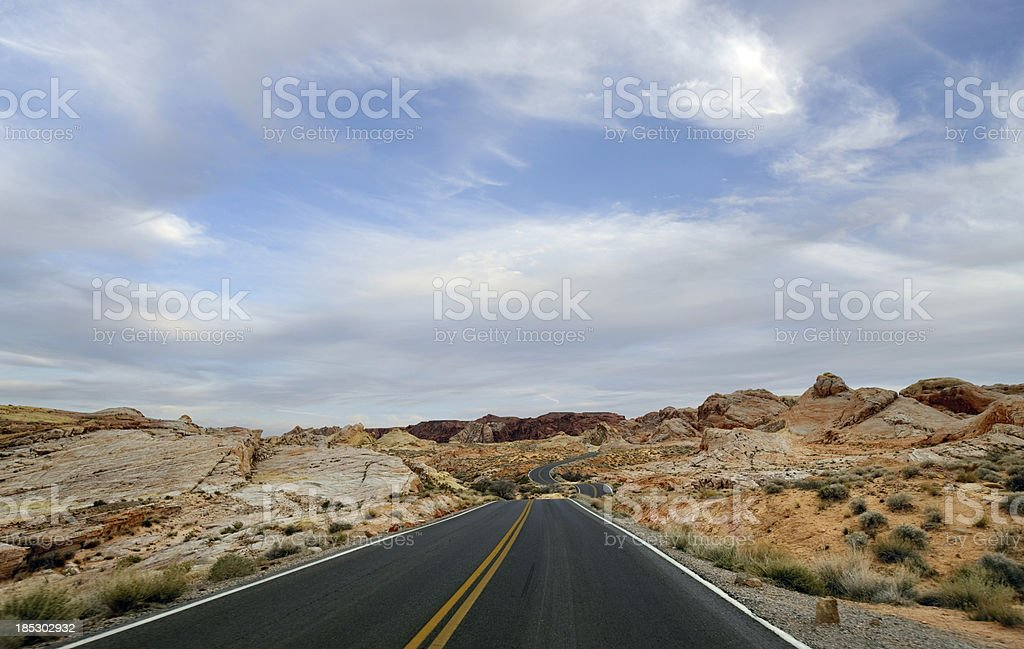highway through the Valley of Fire royalty-free stock photo