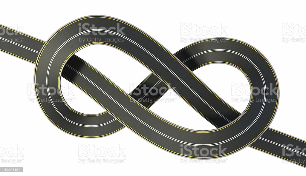 highway tied in a bungle royalty-free stock photo