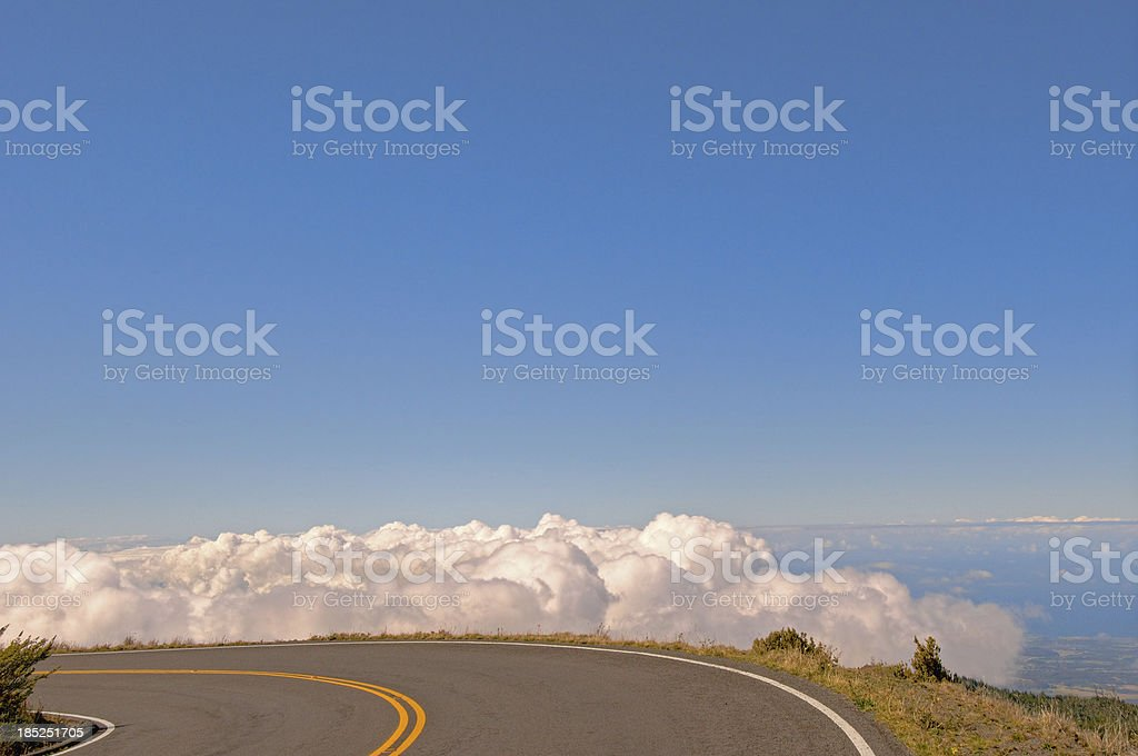 Highway to Haleakala, Maui royalty-free stock photo