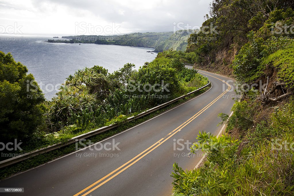 Highway to Hana stock photo