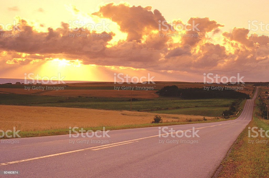 Highway to Heaven royalty-free stock photo