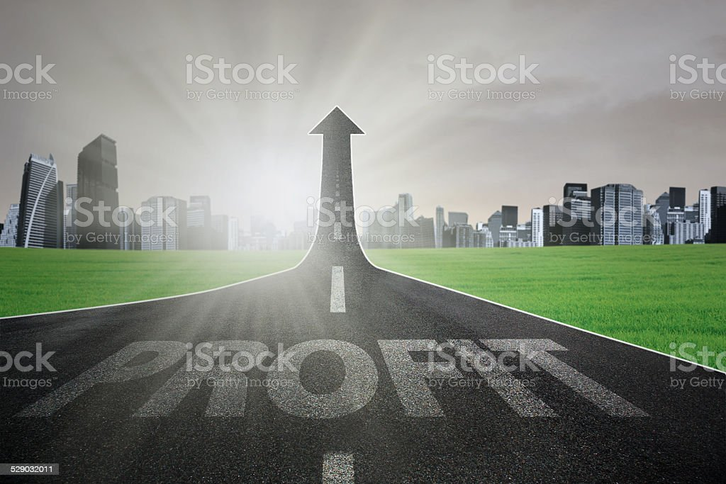Highway to increase profit stock photo