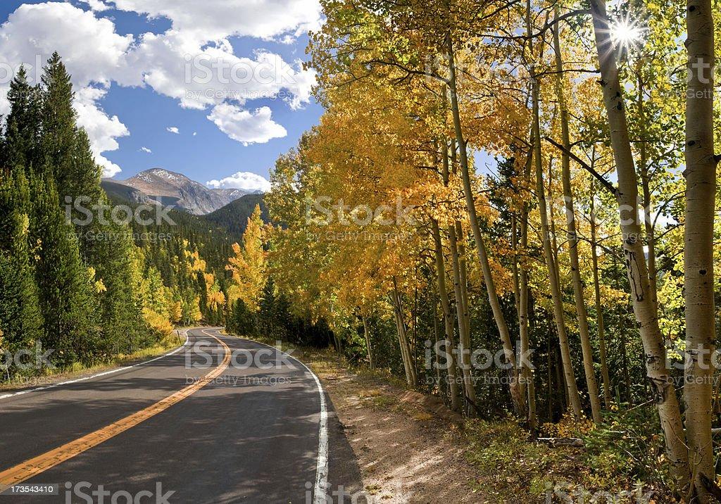 Highway to Mt. Evans XXL stock photo