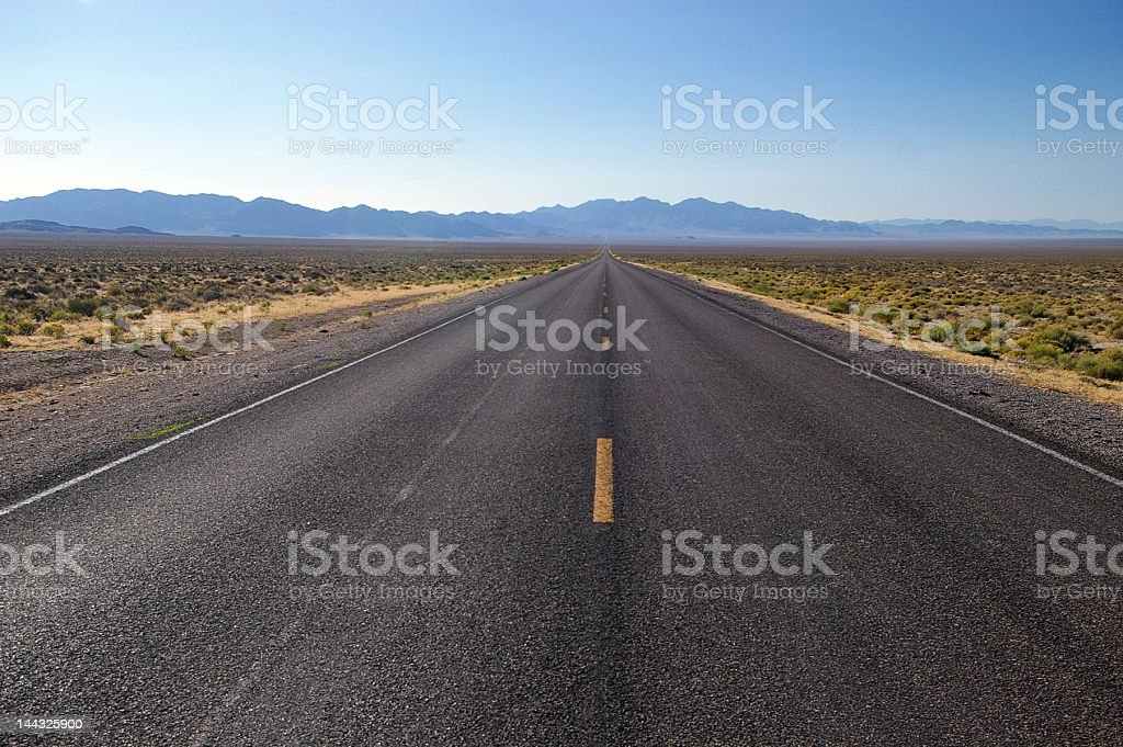 Highway to nowhere stock photo