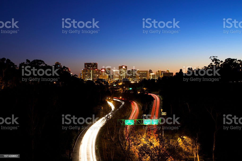 Highway to San Diego stock photo