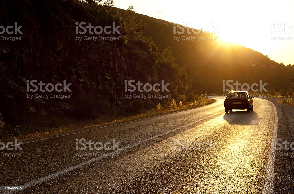Highway to the car royalty-free stock photo