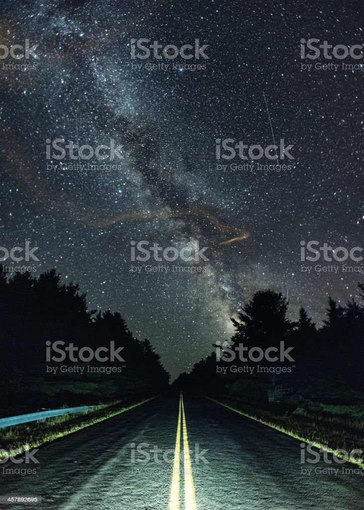 Highway to the Stars stock photo