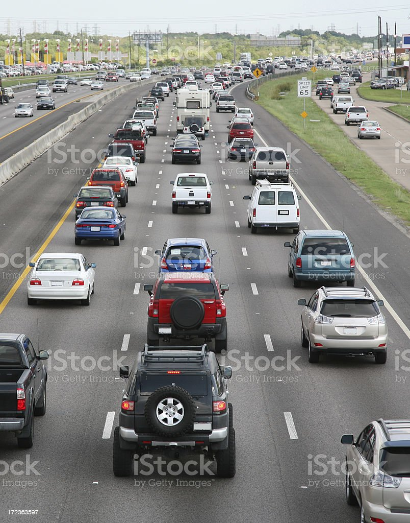 highway to the suburb home royalty-free stock photo